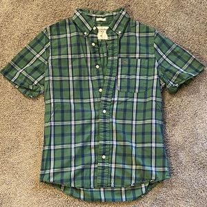 Abercrombie & Fitch Button Down Polo Green M